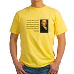 James Madison 12 Yellow T-Shirt