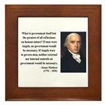 James Madison 13 Framed Tile