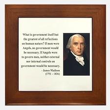 James Madison 13 Framed Tile