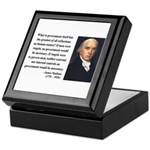 James Madison 13 Keepsake Box