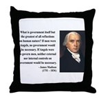 James Madison 13 Throw Pillow