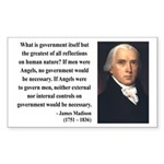 James Madison 13 Rectangle Sticker
