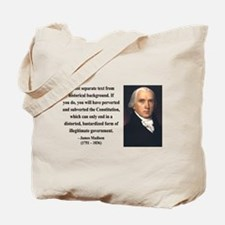 James Madison 14 Tote Bag