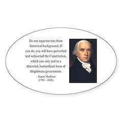 James Madison 14 Oval Sticker