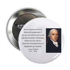 "James Madison 14 2.25"" Button"