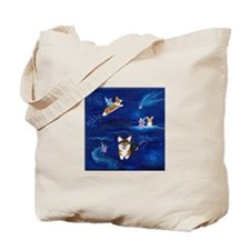 """Faerie Flight"" Pembroke Welsh Corgi Tote Bag"