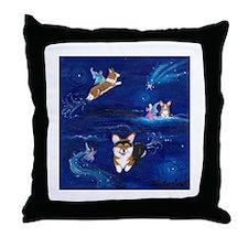 """Faerie Flight"" Pembroke Welsh Corgi Throw Pillow"
