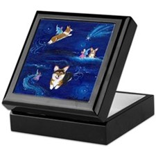"""Faerie Flight"" Pembroke Welsh Corgi Keepsake Box"