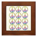Peace x 12 Framed Tile