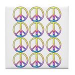 Peace x 12 Tile Coaster