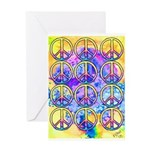 Peace x 12 Greeting Card