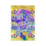 Peace x 12 Rectangle Magnet