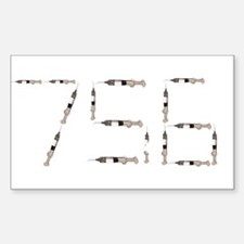 756 Syringes Rectangle Decal