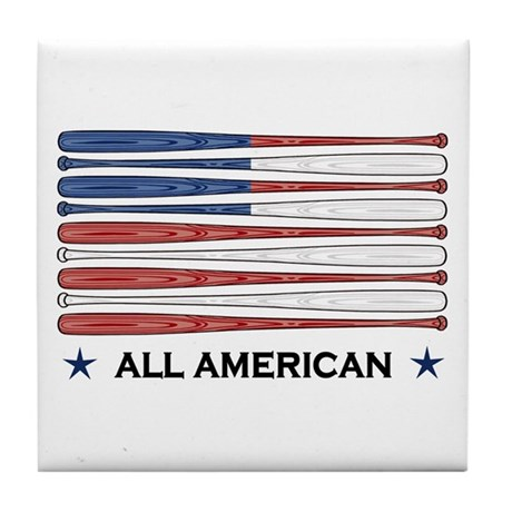 Baseball Flag Tile Coaster