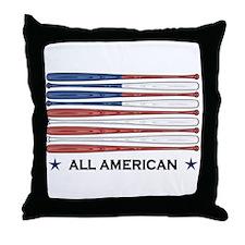 Baseball Flag Throw Pillow