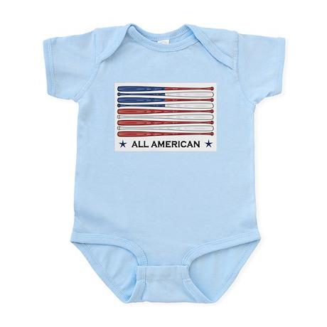 Baseball Flag Infant Bodysuit
