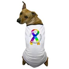 Autism Puzzle Ribbon Dog T-Shirt