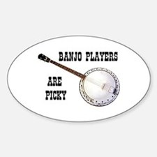 BANJO Oval Bumper Stickers
