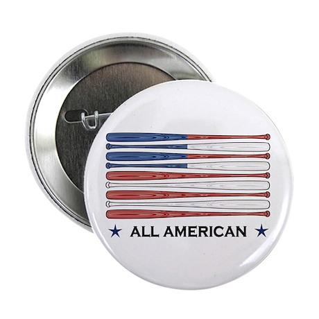 """Baseball Flag 2.25"""" Button (100 pack)"""
