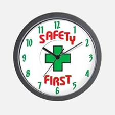 Safety First Cross Wall Clock