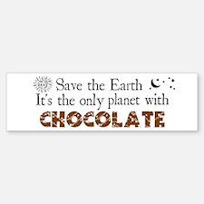 Chocolate Earth Bumper Bumper Bumper Sticker
