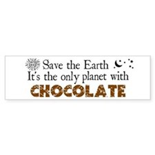Chocolate Earth Bumper Bumper Sticker