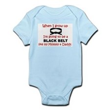 Black Belt Like My Mommy & Daddy Onesie