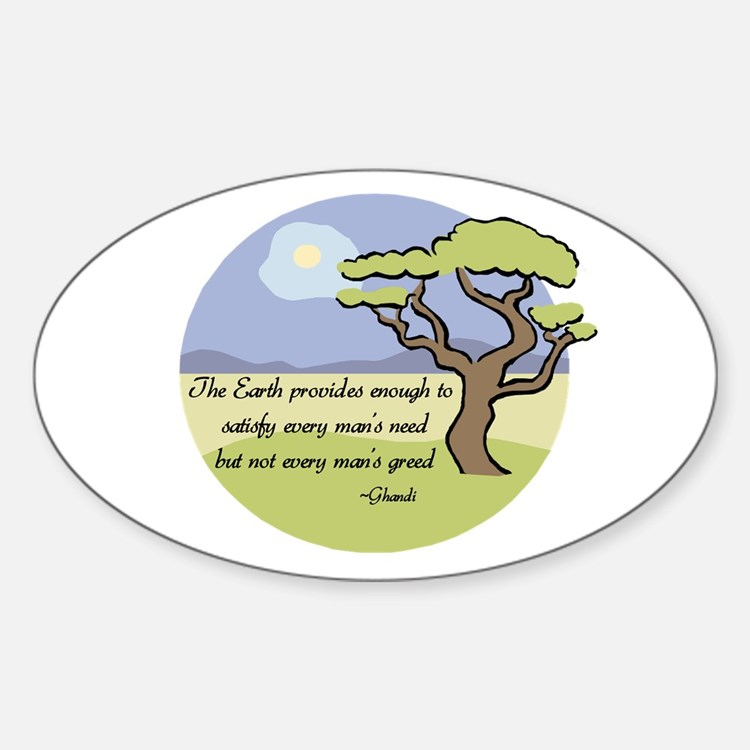 Ghandi Earth quote Oval Decal