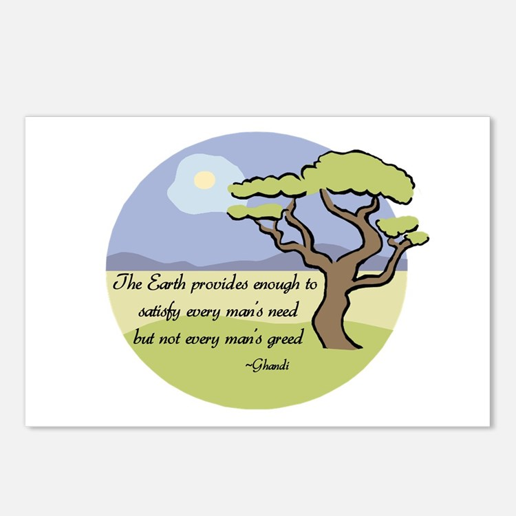 Ghandi Earth quote Postcards (Package of 8)