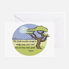 Ghandi Earth quote Greeting Card