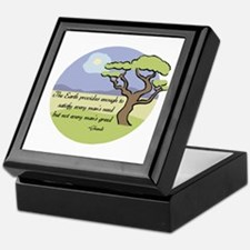 Ghandi Earth quote Keepsake Box