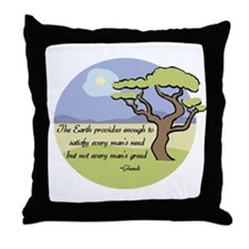Ghandi Earth quote Throw Pillow