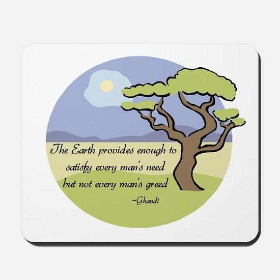 Ghandi Earth quote Mousepad