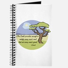 Ghandi Earth quote Journal