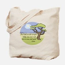 Ghandi Earth quote Tote Bag