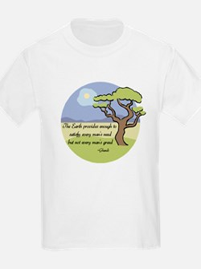 Ghandi Earth quote T-Shirt