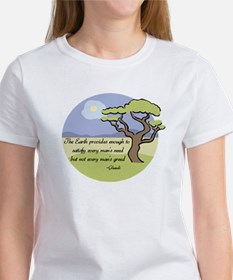 Ghandi Earth quote Tee