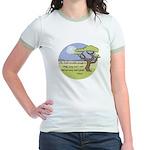 Ghandi Earth quote Jr. Ringer T-Shirt