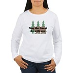 May the Forest be with you Women's Long Sleeve T-S