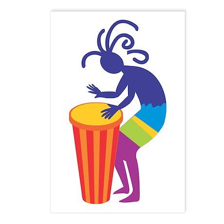 Kokopelli Drum Postcards (Package of 8)
