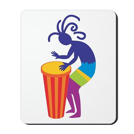 Kokopelli Drum Mousepad