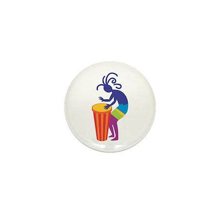 Kokopelli Drum Mini Button (10 pack)