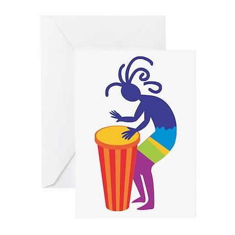 Kokopelli Drum Greeting Cards (Pk of 20)
