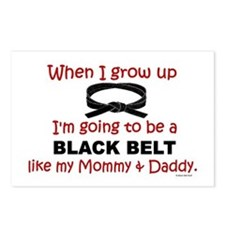Black Belt Like My Mommy & Daddy Postcards (Packag