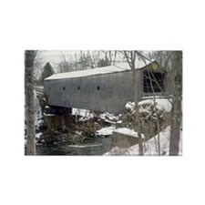 Bulls Bridge Snowy Rectangle Magnet