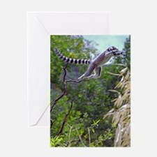 Leaping Lemur Greeting Card