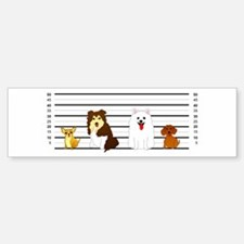 Doggie Lineup Bumper Bumper Bumper Sticker