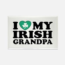I Love My Irish Grandpa Rectangle Magnet