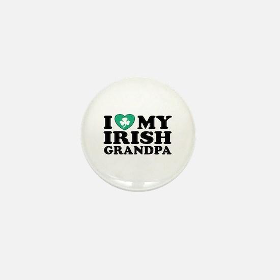 I Love My Irish Grandpa Mini Button