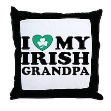 I Love My Irish Grandpa Throw Pillow